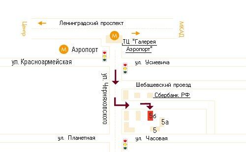 Схема проезда (версия для печати) .